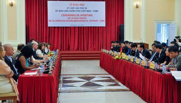 Vietnam y Cuba confirman mutua voluntad de potenciar sus relaciones en todos los ámbitos. Foto: @CubaMINREX / Twitter