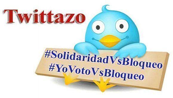 El Comité Internacional Paz, Justicia y Dignidad a los Pueblos propuso usar en la red social Twitter etiquetas como #NomasBloqueo, #Niunpasoatras y #UnblockCuba