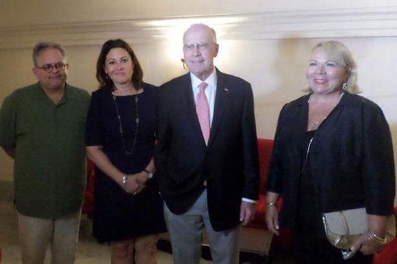 Miembros de la importante delegación de Tampa y San Petersburgo participa en programa de negocios en Cuba. Foto: Prensa Latina.