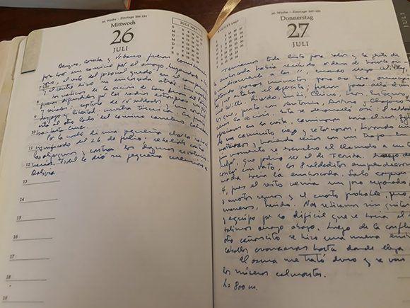 El Diario del Che en Bolivia, anotación del 26 de Julio de 1967.