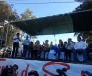 Evo habló en el acto. Foto: Cónsul Cuba en Santa Cruz