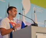 Elián González Brotons durante el XIX Festival Mundial de la Juventud y los Estudiantes en Rusia. Foto: Luis Mario Rodríguez Suñol/ Cubadebate.