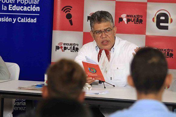 Jaua hoy en el programa Encuentro Popular, transmitido por YVKE Mundial. Foto: @ContactoFede