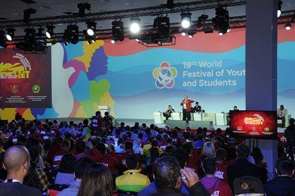 El XIX Festival Mundial de la Juventud y los Estudiantes celebra el centenario de la Revolución Socialista de Octubre con diferentes iniciativas y actividades. Foto: Luis Mario Rodríguez Suñol/ Cubadebate.