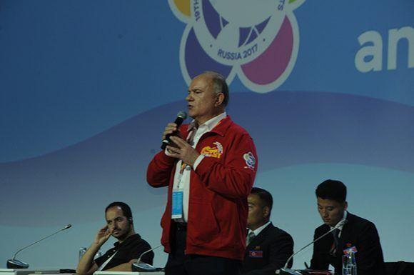 Gennady Zyuganov, primer secretario del Partido Comunista de la Federación Rusa. Foto: Luis Mario Rodríguez Suñol/ Cubadebate.