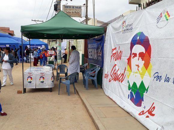 La Feria de salud se desarrolló durante el 7 y 8 de octubre. Foto: Brigada Médica Cubana en Bolivia