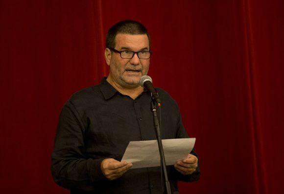 Las palabras iniciales del Festival estuvieron a cargo del crítico villaclareño, Omar Valiño, su director curatorial. Foto: Ismael Francisco/ Cubadebate.