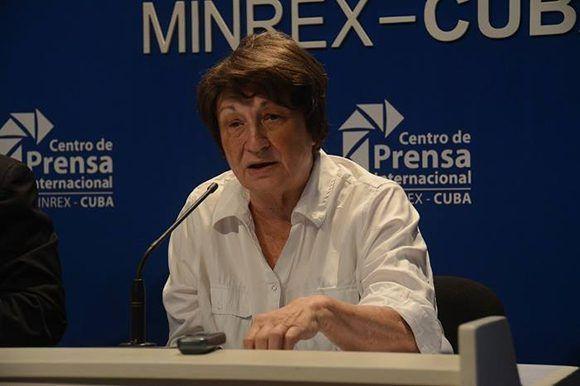 Gloria Ponjuan Dante, presidenta del Comité Académico. Foto: @ICOMCuba/ Facebook.