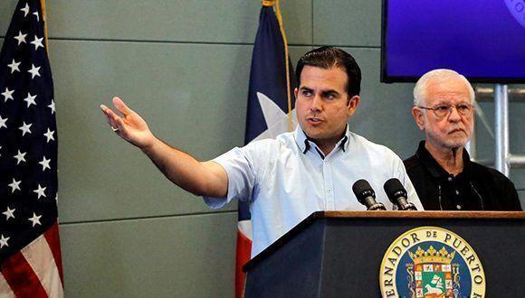 El gobernador de Puerto Rico, Ricardo Rosselló. Foto: Carlos Barria / Reuters.