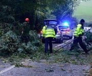 Desastres causados por Ofelia en Irlanda. Foto: Irish Times.