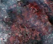 Imagen vía satélite de la zona de Santa Rosa (AP)