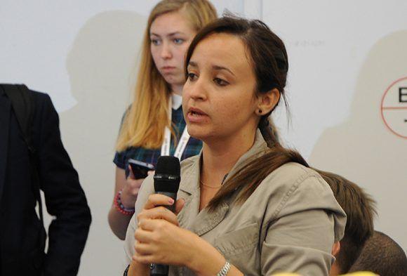Jennifer Bello intervino en el Panel. Foto: Luis Mario Rodríguez Suñol/ Cubadebate.