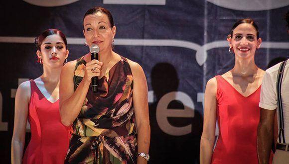 Lizt Alfonso en la función única que protagonizara la compañía en el X Festival Internacional de Santa Lucía. Foto: Cortesía de LADC.
