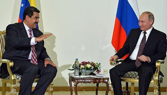 Nicolás Maduro durante su reciente vista a Rusia en la que fue recibido por Vladimir Putin. Foto: Alexey Druzhinin/ Sputnik.