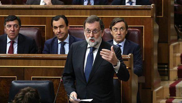 El presidente del Gobierno, Mariano Rajoy, en la sesión de control al Gobierno en el Congreso de los Diputados, este miércoles. Foto: Juan Manuel Prats/ elperiódico.