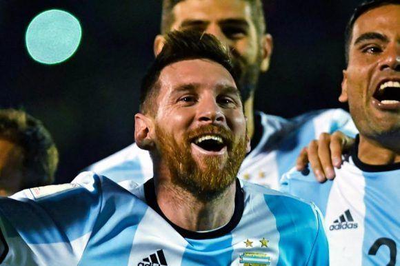 Messi festeja. Foto: AFP