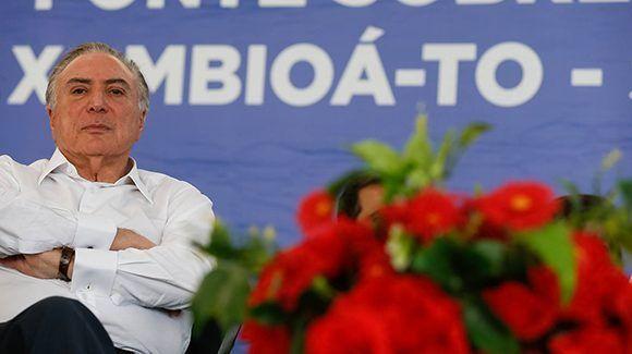 Michel Temer durante un evento en Xambioá. Foto: Beto barata/ Presidencia.
