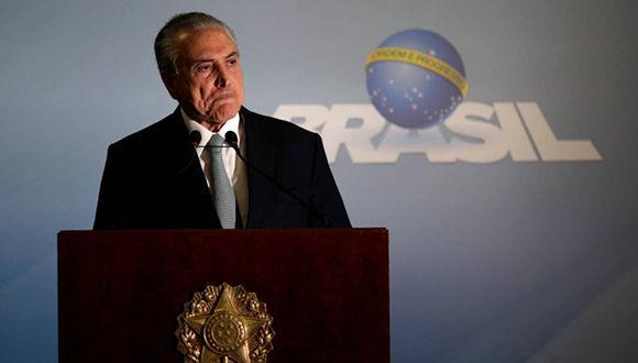 El presidente de Brasil, Michel Temer. Foto: Reuters.