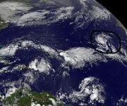 Ofelia podría afectar a Europa como un huracán, un fenómeno muy extraño. Imagen: GOES.