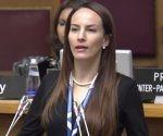 La senadora mexicana Gabriela Cuevas Barron resultó electa presidenta de la UIP para los próximos tres años. Foto: @IPUparliament / Twitter