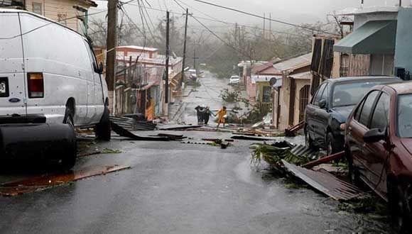 Aumenta el número de muertos en Puerto Rico tras el paso del Huracán María por la isla. Foto: Reuters.