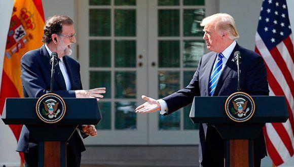 Mariano Rajoy y Donald Trump en la Casa Blanca el pasado 26 de septiembre. Foto: AP