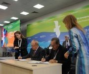 Firma de convenios y contratos entre la Universidad de Moscú y el Ministerio de Educación Superior de Cuba. Foto: Luis Mario Rodríguez Suñol/ Cubadebate.
