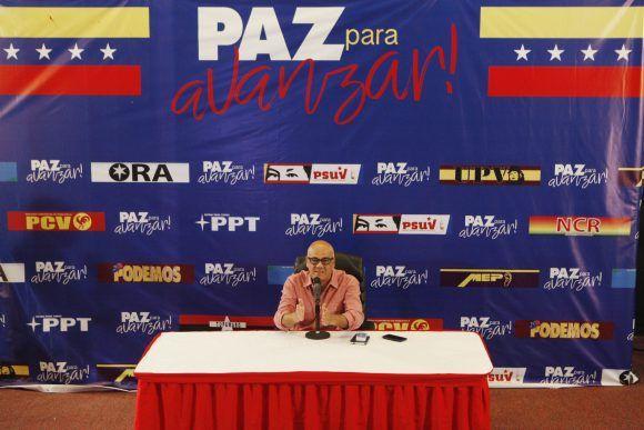 El jefe de campaña del Comando Zamora 200, Jorge Rodríguez. Foto: AVN.