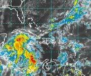 Vista del satélite en la tarde de hoy. Imagen: NOAA/ Vía INSMET Cuba.
