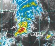 Las principales afectaciones de esta tormenta tropical sobre Cuba son las intensas lluvias en el centro y occidente del país. Imagen: NOAA/ Vía INSMET Cuba.