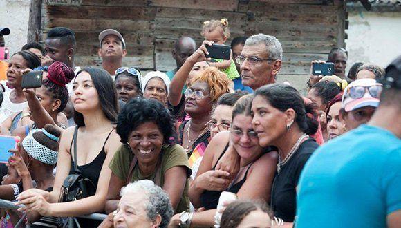Concierto 85 de la Gira por los Barrios de Silvio Rodríguez en El Palenque, La Lisa. Foto: Iván Soca