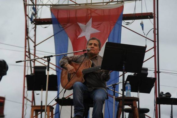 Silvio en Cojimar. Foto: Iván Soca.