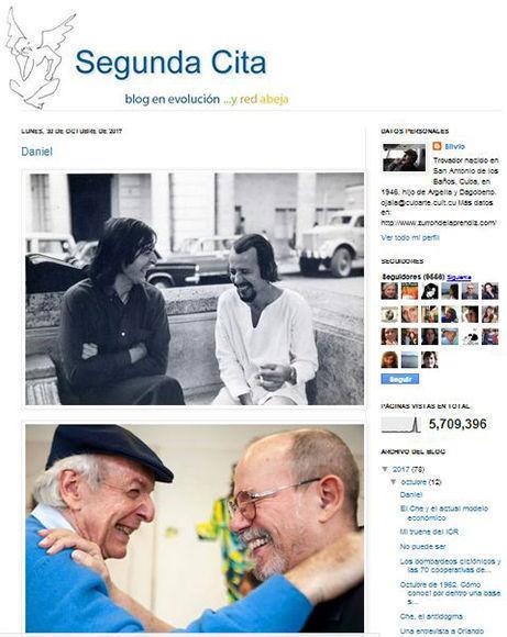Un post de Silvio para Daniel este 30 de octubre.