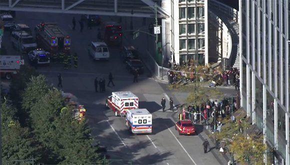 Tiroteo y atropello en Nueva York deja al menos cinco heridos. Foto: AP