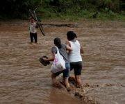 Unas 3 mil 759 familias se encuentran afectadas en Nicaragua tras el paso de la tormenta Nate. Foto: Reuters.