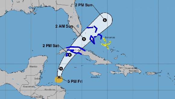 Advertencia de tormenta tropical para el occidente de Cuba