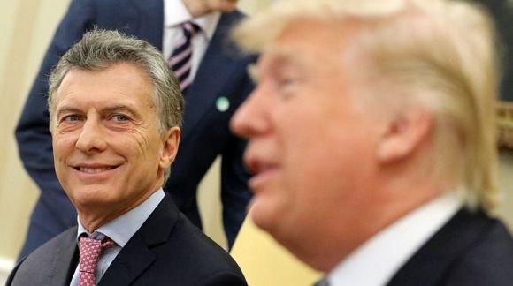 Trump y Macri durante un encuentro en la Casa Blanca. Foto: Agencias.