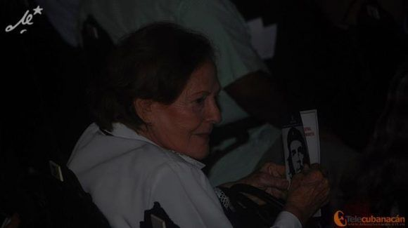 Aleida Guevara estuvo presente en el homenaje. Foto:ACN: