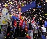 Miembros del PSUV festeja la victoria electoral. Foto: Correo del Orinoco.