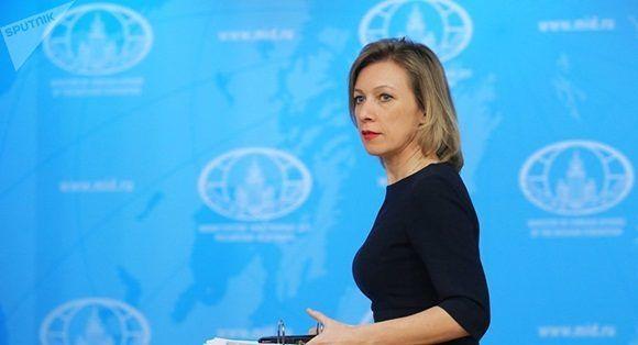 """""""Las declaraciones de quien sea sobre el reconocimiento o no reconocimiento de Crimea no afectará al hecho de que forma parte de la Federación Rusa"""", dijo la portavoz en una sesión informativa."""