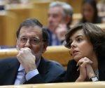 MADRID 12 09 2017 POLITICA Sesion de Control al Gobierno en el Senado   En la imagen el Pte del Gobierno Mariano Rajoy junto a la Vicepresidenta del Gobierno Soraya Saenz de Santamaria   Imagen DAVID CASTRO