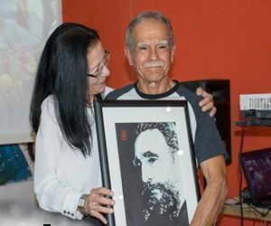 López Rivera participa en homenaje a Fidel