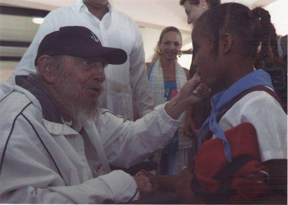 En el complejo educacional Vilma Espín, La Habana, 7 de abril de 2016. Foto: Estudios Revolución / Sitio Fidel Soldado de las Ideas