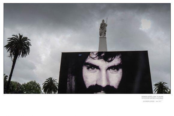 """Foto de la Expo """"Donde estés con tu alma"""", dedicada a Santiago Maldonado. Foto: Alejandro Amdan"""