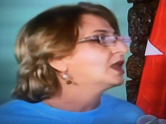 Alina Balseiro, Presidenta de la CEN. Foto tomada de la TV