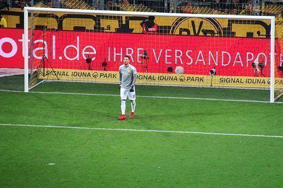 Bürki, después de un gol. Foto del autor.