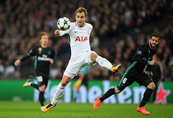 Christian Eriksen, autor del último gol del Tottenham. Foto: Getty Images.