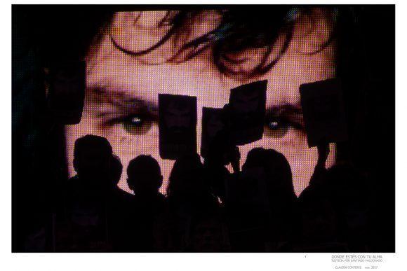 """Foto de la Expo """"Donde estés con tu alma"""", dedicada a Santiago Maldonado. Foto: Claudia Conteris"""