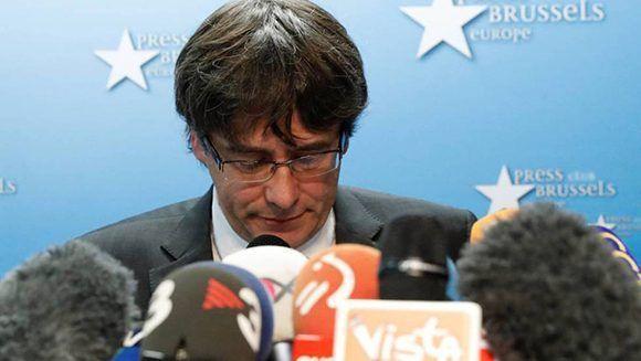 Puigdemont se marchó a Bélgica y no regresará para presentarse ante las autoridades y responder a las acusaciones. Foto: Reuters.