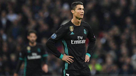 Cristiano Ronaldo durante la derrota del Real Madrid ante el Tottenham en Londres. Foto: EFE.